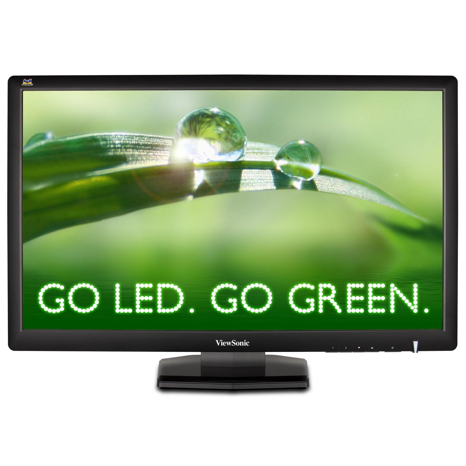 "27"" VIEWSONIC VX2703MH-LED  WIDE FULL HD SİYAH  LED MONİTÖR DVI+HDMI 3Ms"